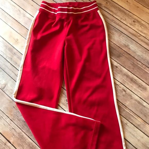 Charles River Pants - red & white sweat pants Charles River
